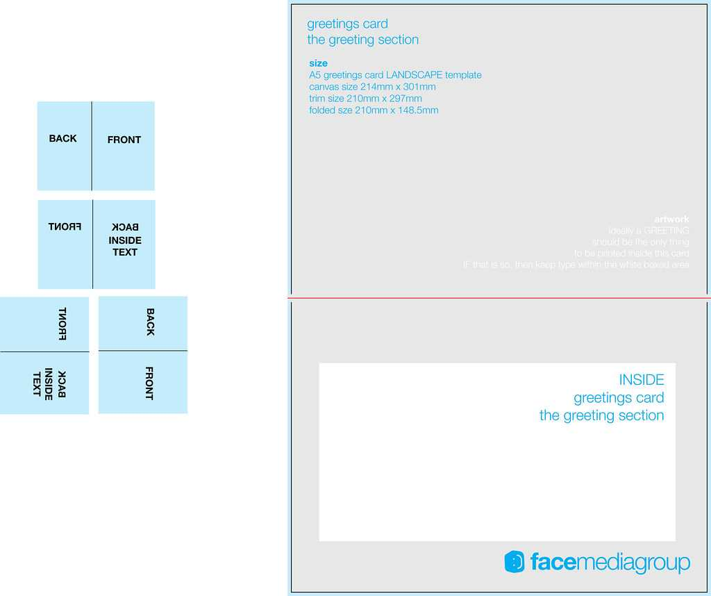 A5 Landscape Greetings Card Template - Tent Fold - Inside Within Birthday Card Indesign Template