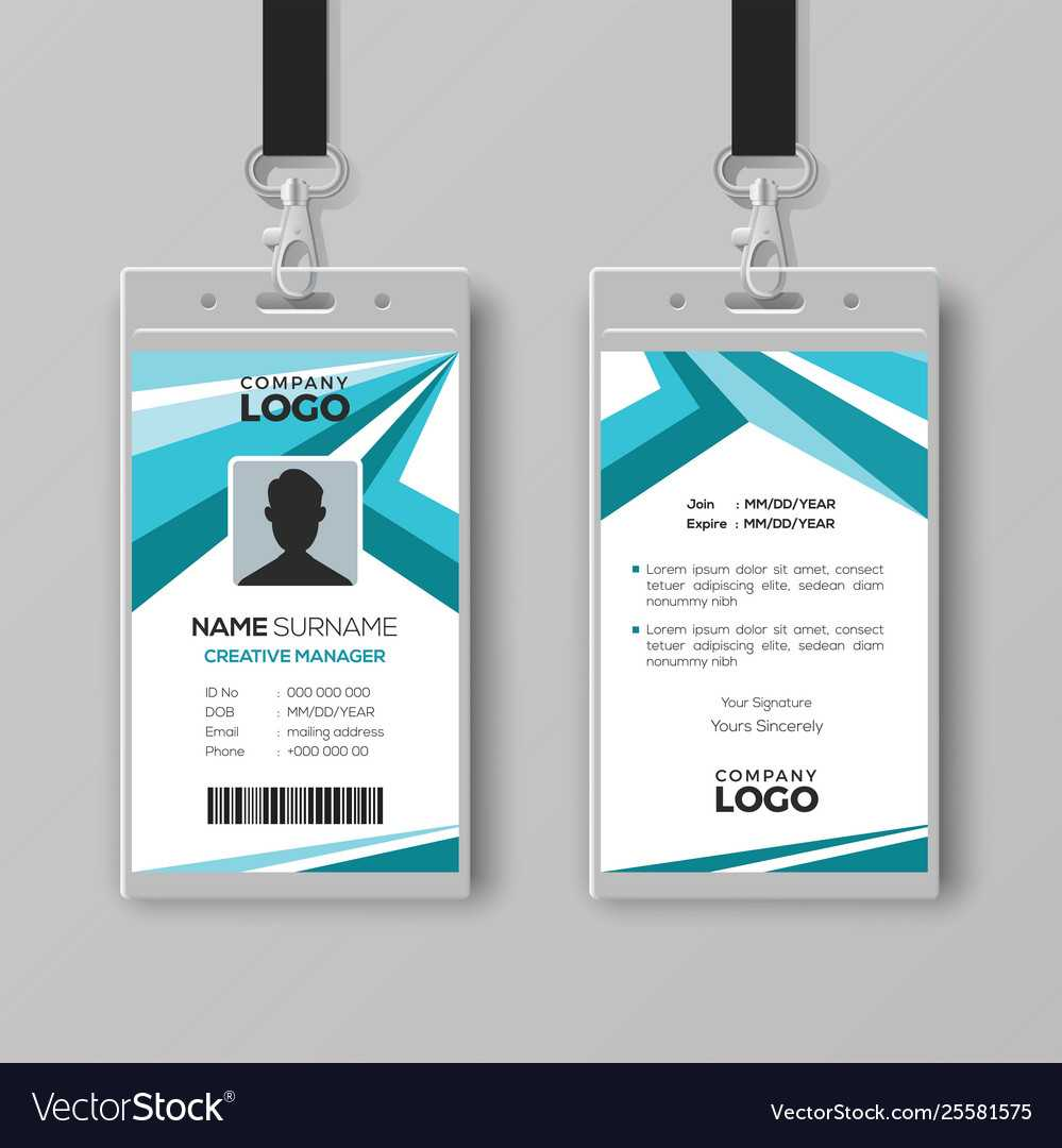 Abstract Corporate Id Card Design Template Regarding Company Id Card Design Template