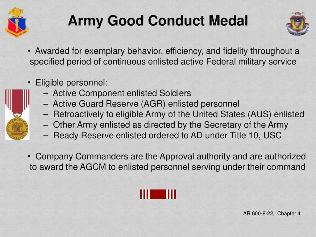 Adjutant General School Administer Awards And Decorations For Army Good Conduct Medal Certificate Template