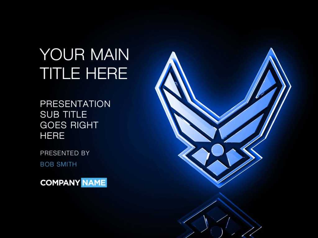Air Force Powerpoint Template Designs - Trashedgraphics Pertaining To Air Force Powerpoint Template