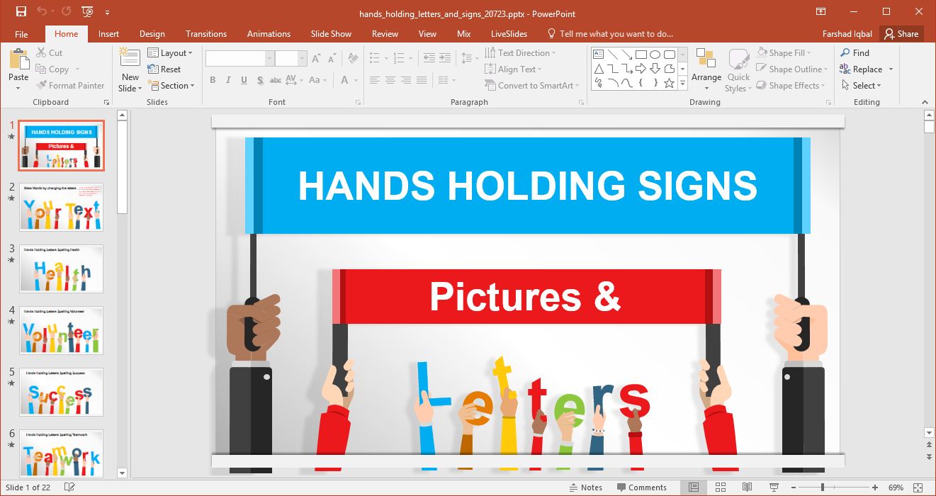Animated Signboards Powerpoint Template With Replace Powerpoint Template
