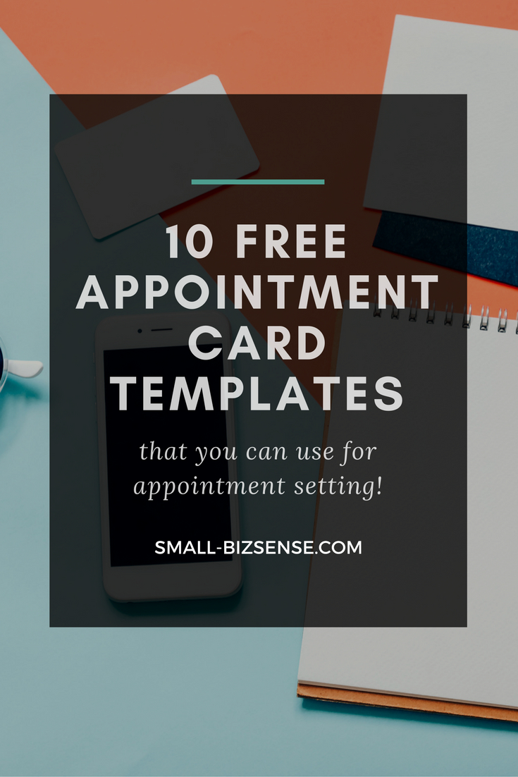 Appointment Card Template: 10 Free Resources For Small Intended For Medical Appointment Card Template Free