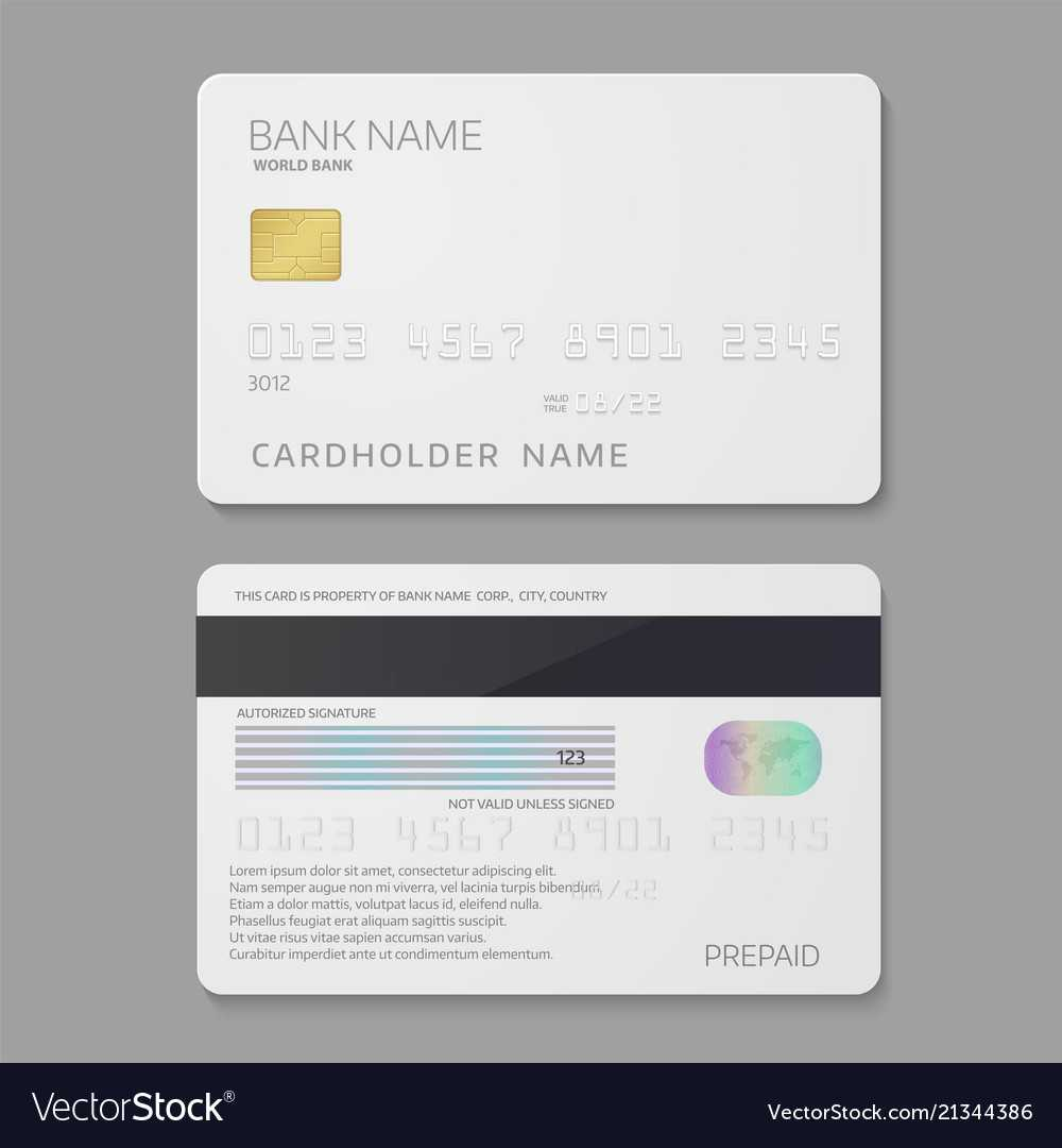 Bank Credit Card Template Throughout Credit Card Templates For Sale