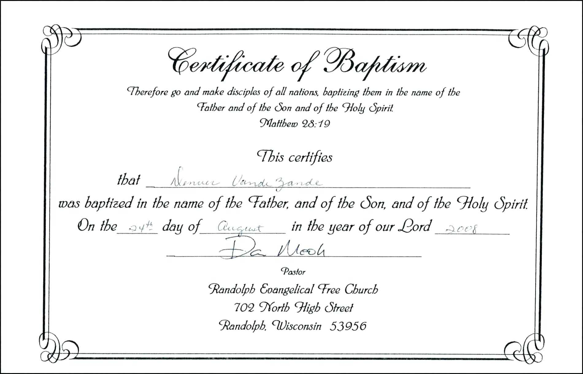 Baptism Certificate Template Word – Heartwork Within Baptism Certificate Template Download
