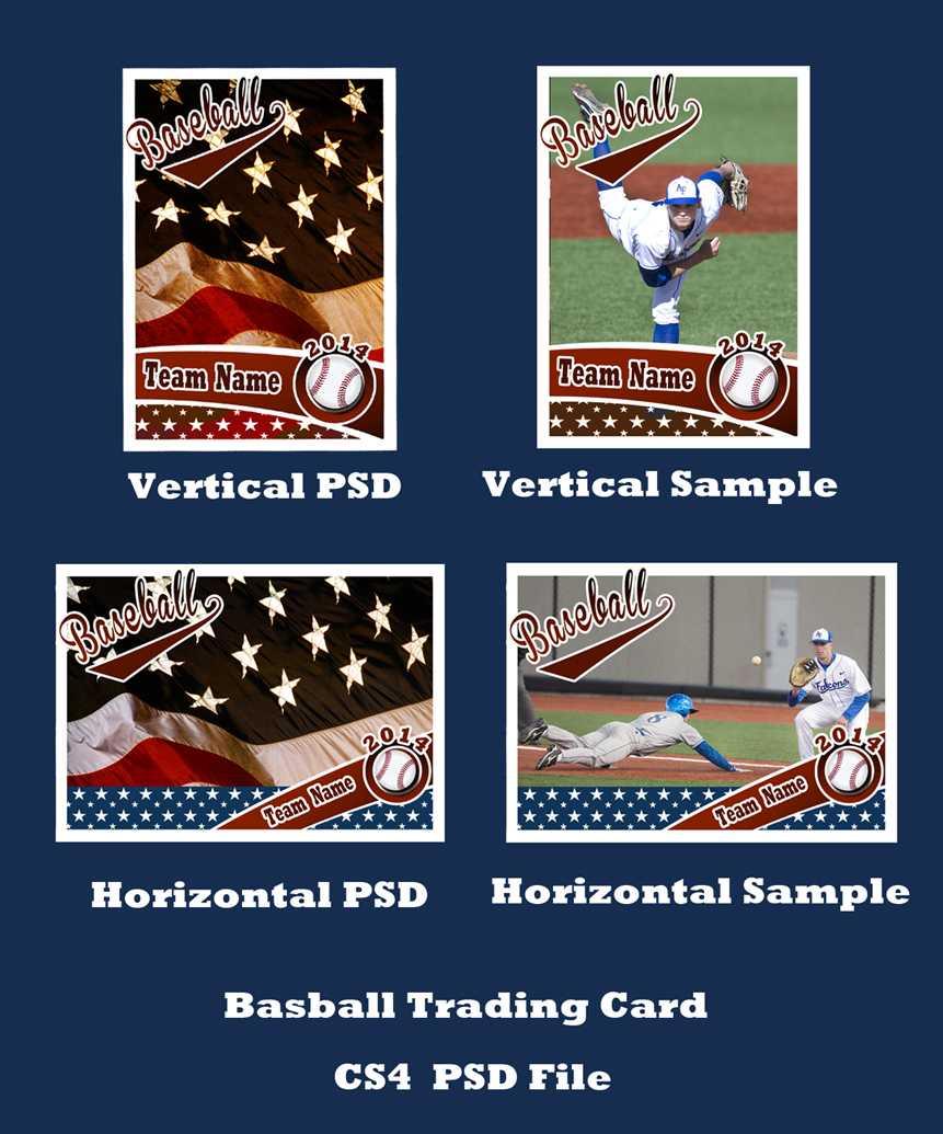 Baseball Card Template Psd Cs4Photoshopbevie55 On Deviantart With Baseball Card Template Psd