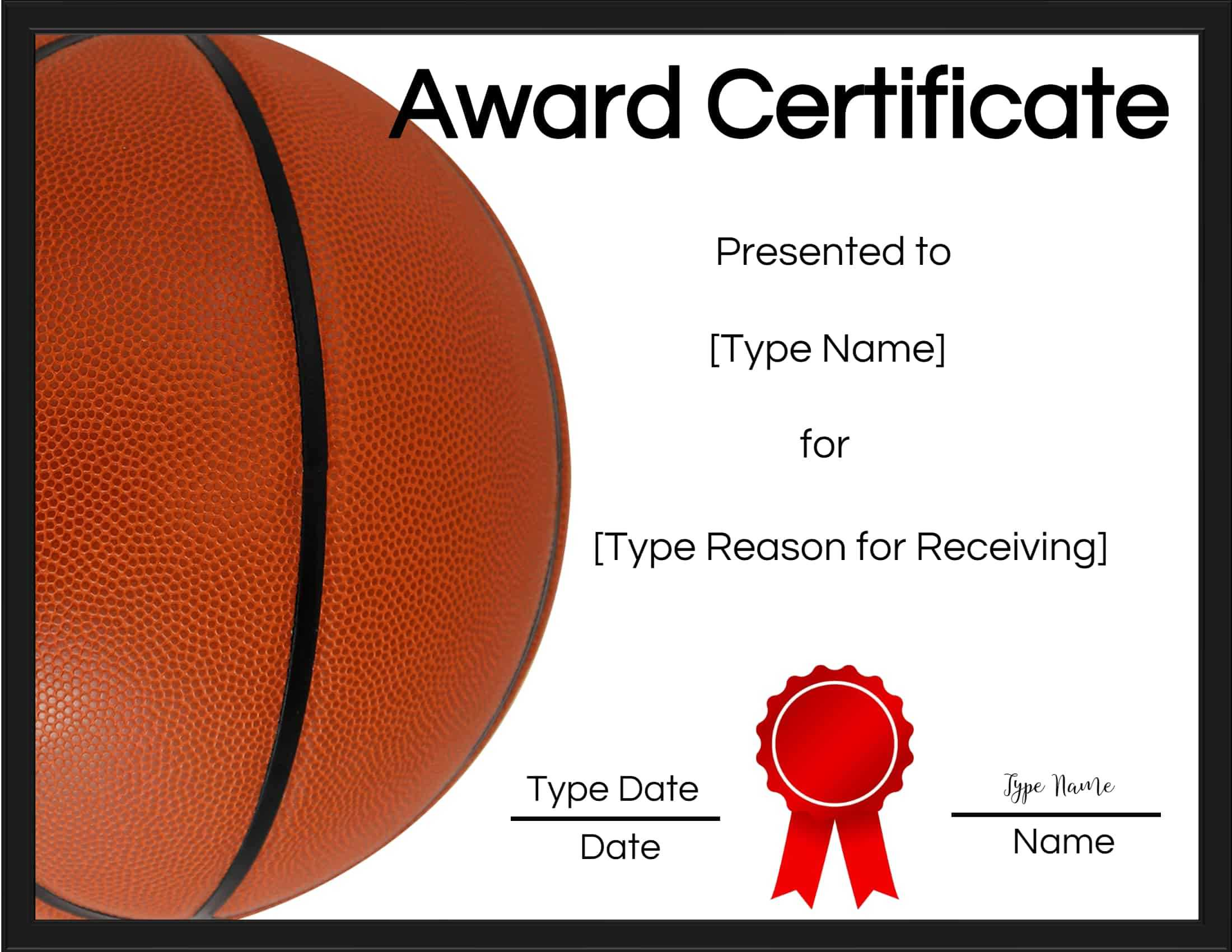 Basketball Certificates Intended For Basketball Certificate Template