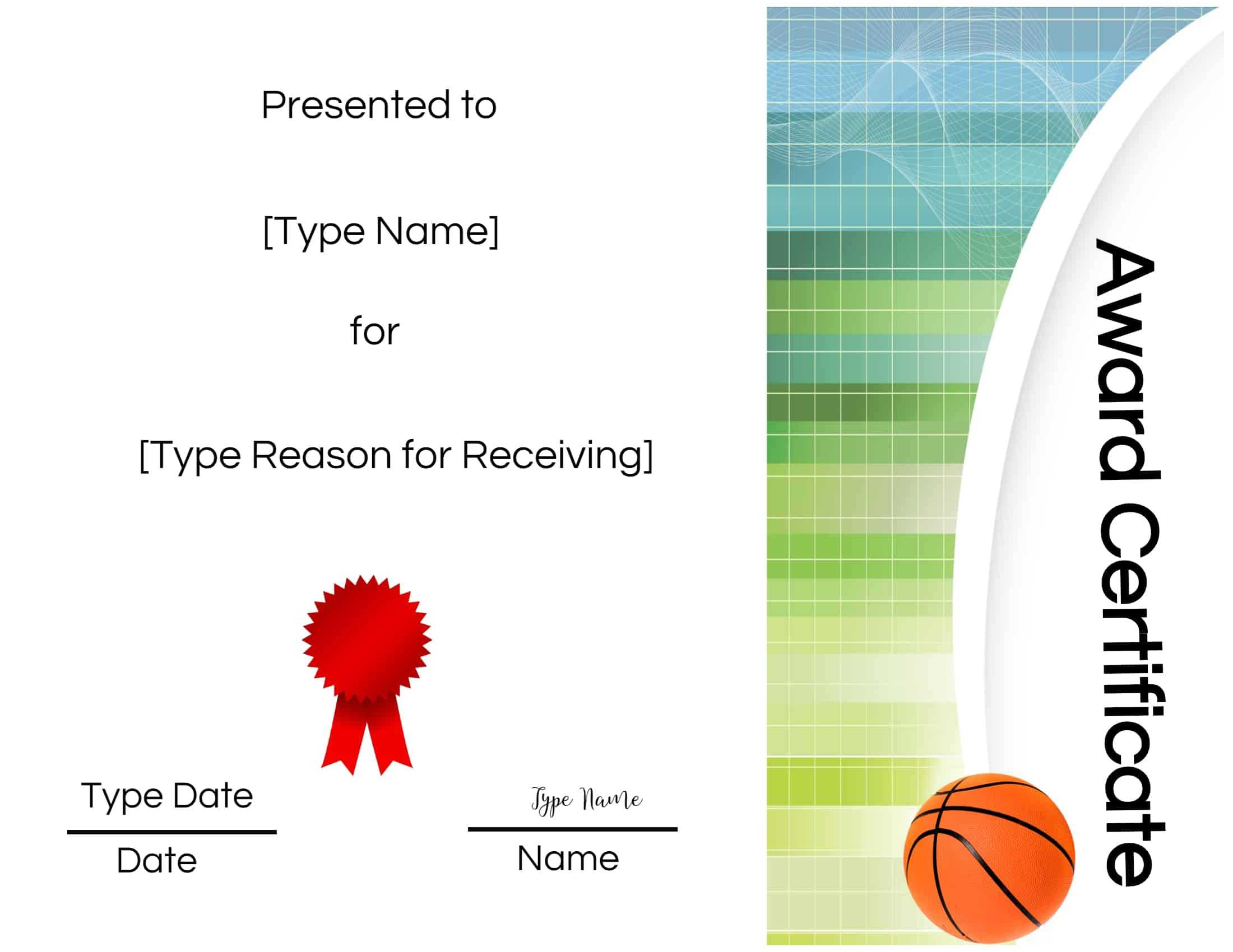 Basketball Certificates Within Soccer Award Certificate Templates Free