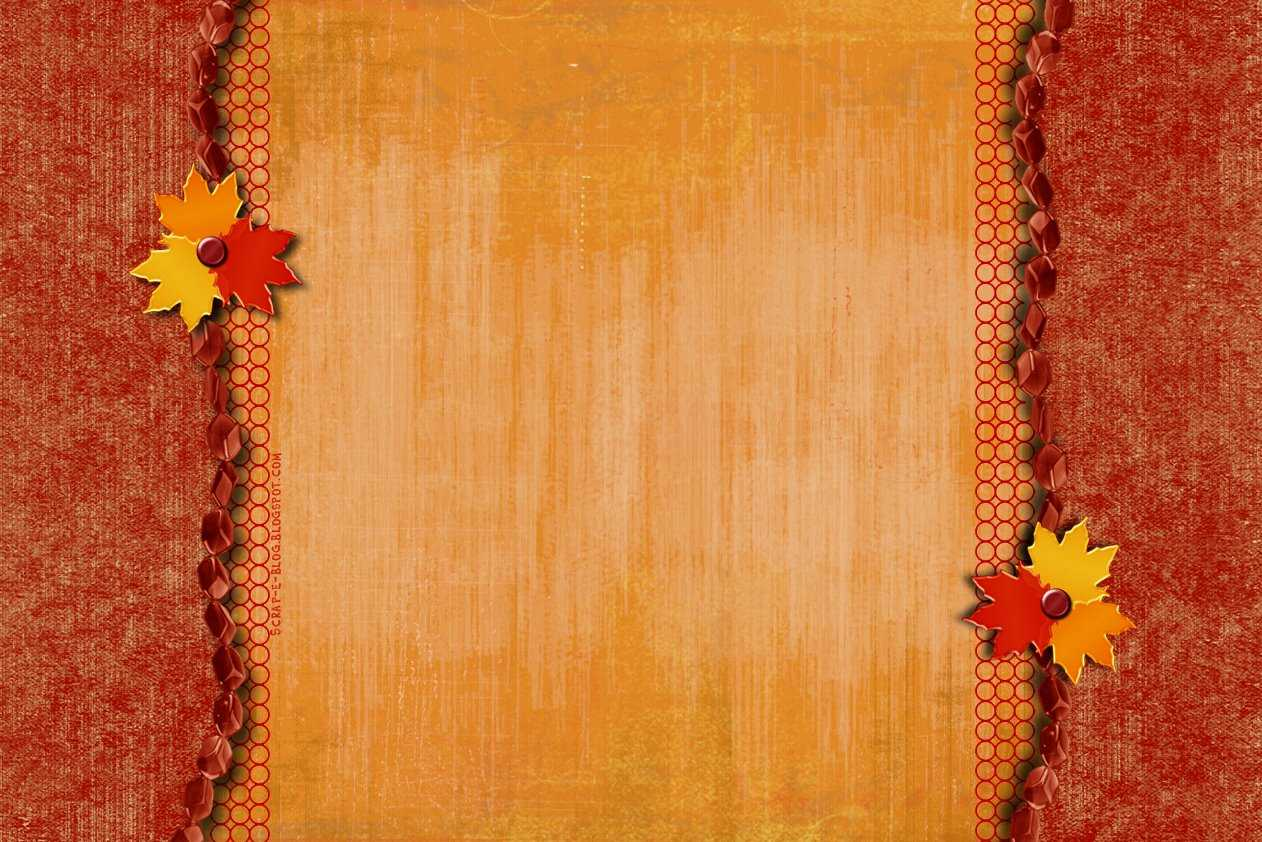 Beautiful Scroll For Fall Background For Powerpoint - Border With Regard To Free Fall Powerpoint Templates