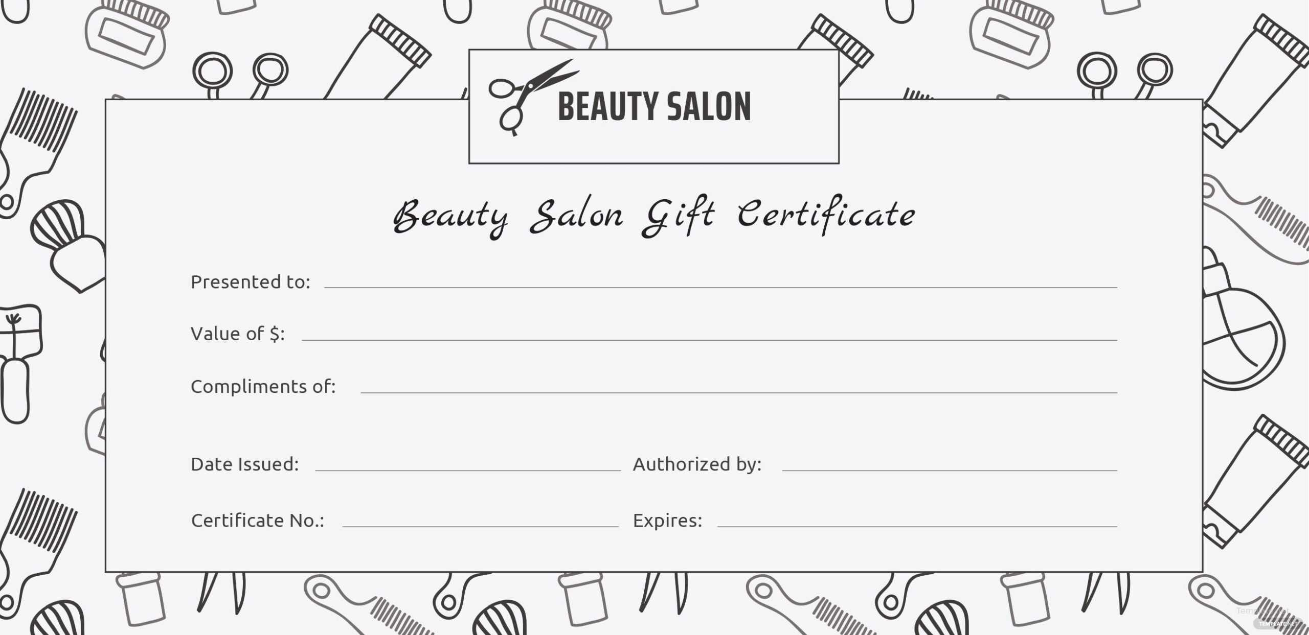 Beauty Voucher Template - Karati.ald2014 inside Salon Gift Certificate Template