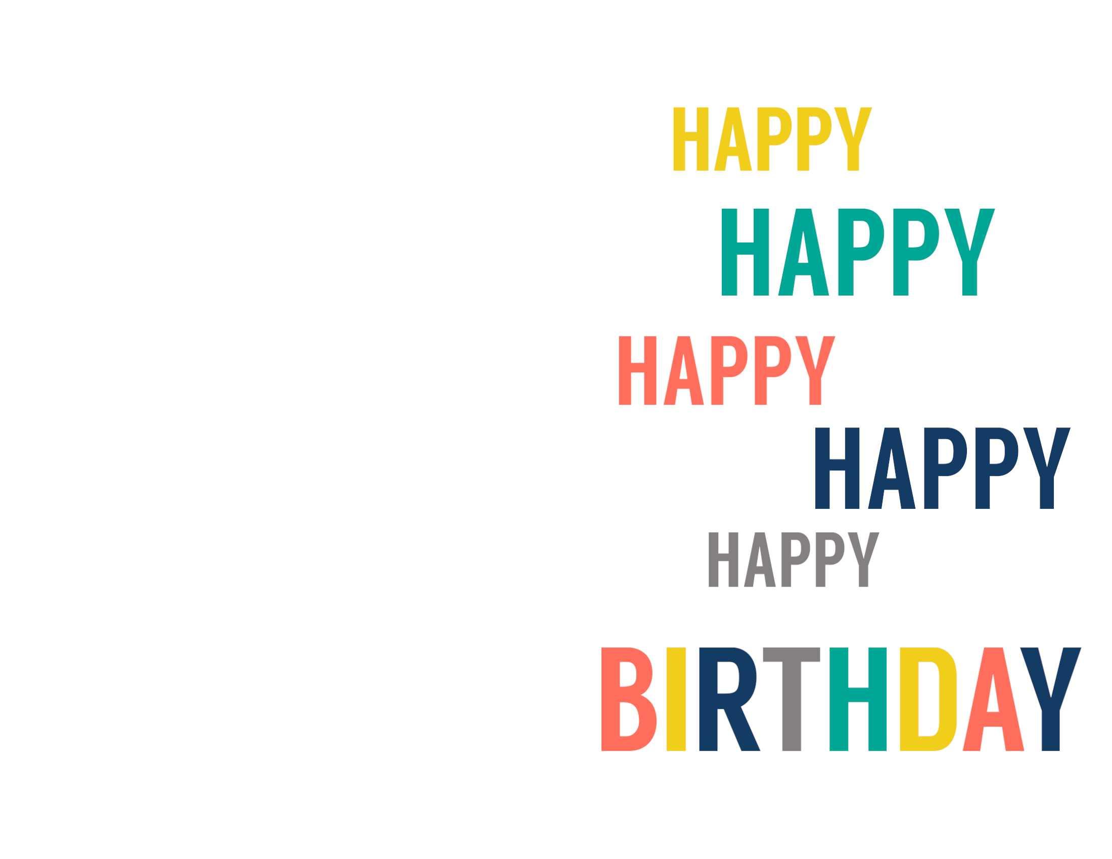 Birthday Cards Templates To Print - Karati.ald2014 With Regard To Foldable Birthday Card Template