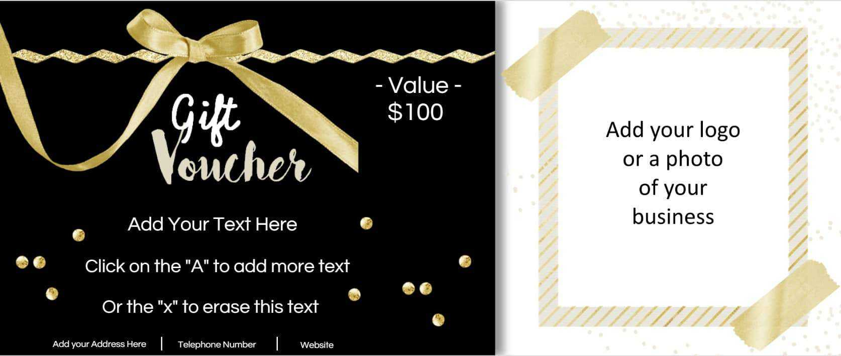 Birthday Coupons Inside Custom Gift Certificate Template