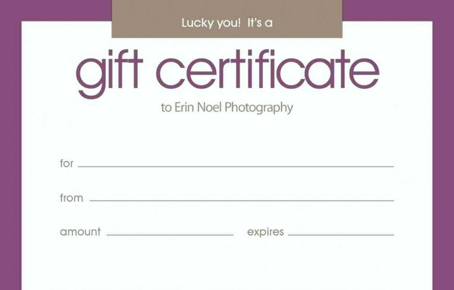 Birthday Gift Certificate Template Free Online Within Massage Gift Certificate Template Free Printable