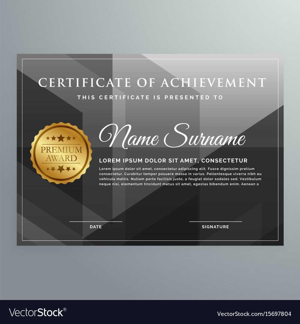Black Award Certificate Design Template Pertaining To Award Certificate Design Template