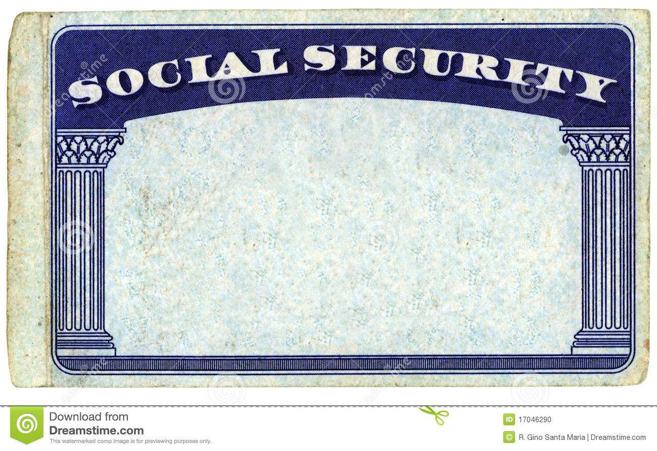 Blank American Social Security Card Stock Photo - Image Of Inside Fake Social Security Card Template Download