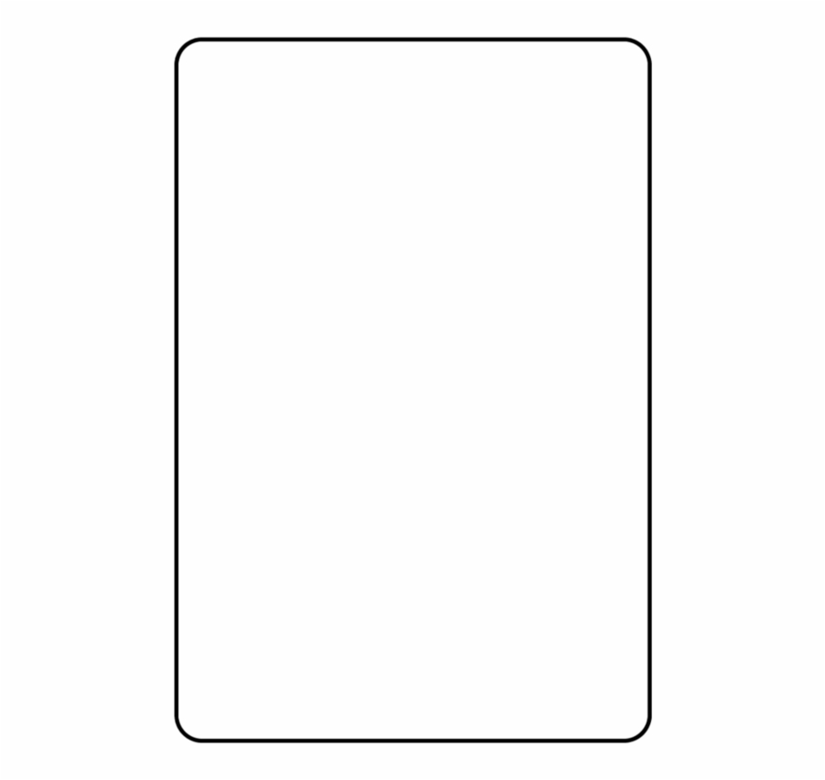 Blank Playing Card Template Parallel - Clip Art Library Pertaining To Blank Playing Card Template