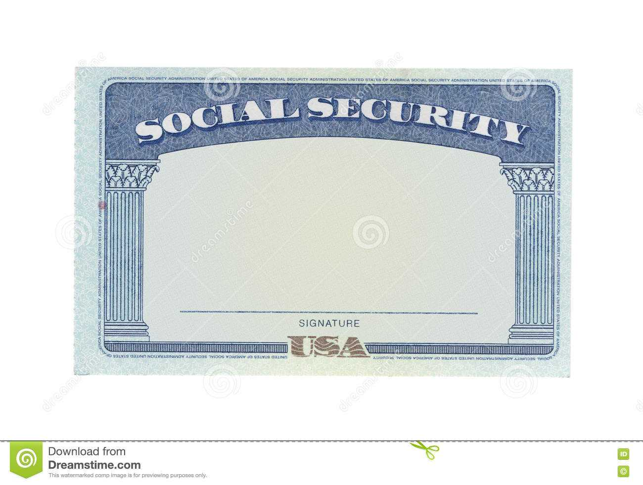 Blank Social Security Card Stock Photos - Download 127 With Regard To Ss Card Template