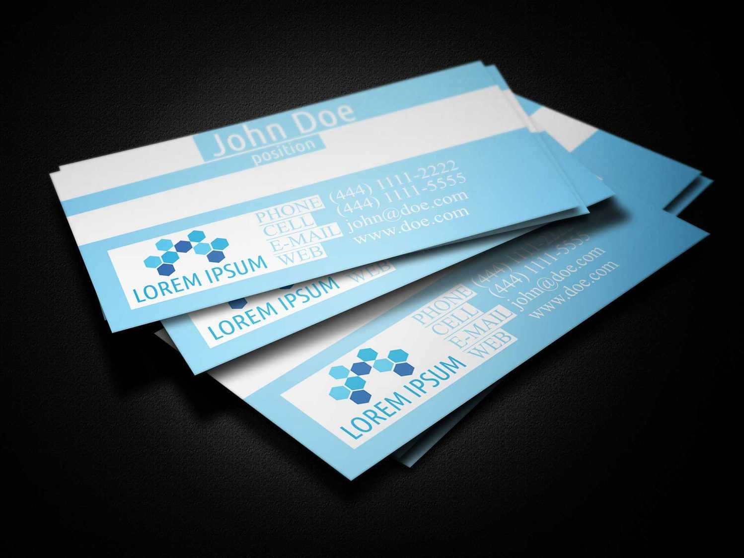 Blue Medical Business Card Template - Business Cards Lab Inside Medical Business Cards Templates Free