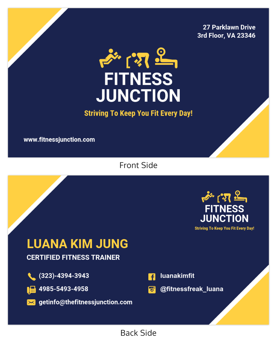 Bold Fitness Trainer Business Card Template Within Dog Grooming Record Card Template