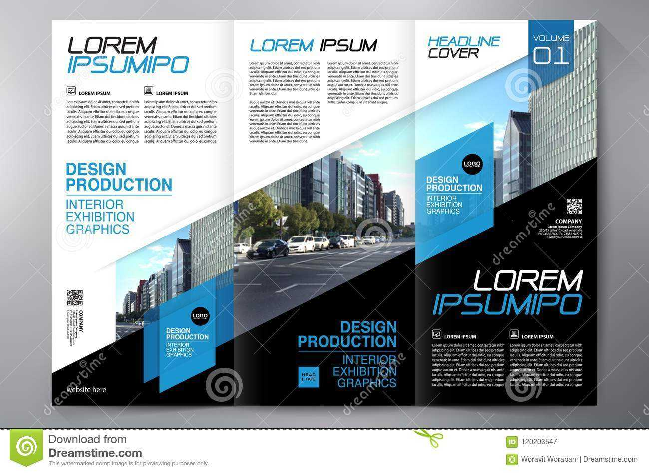 Brochure 3 Fold Flyer Design A4 Template. Stock Vector For Engineering Brochure Templates Free Download
