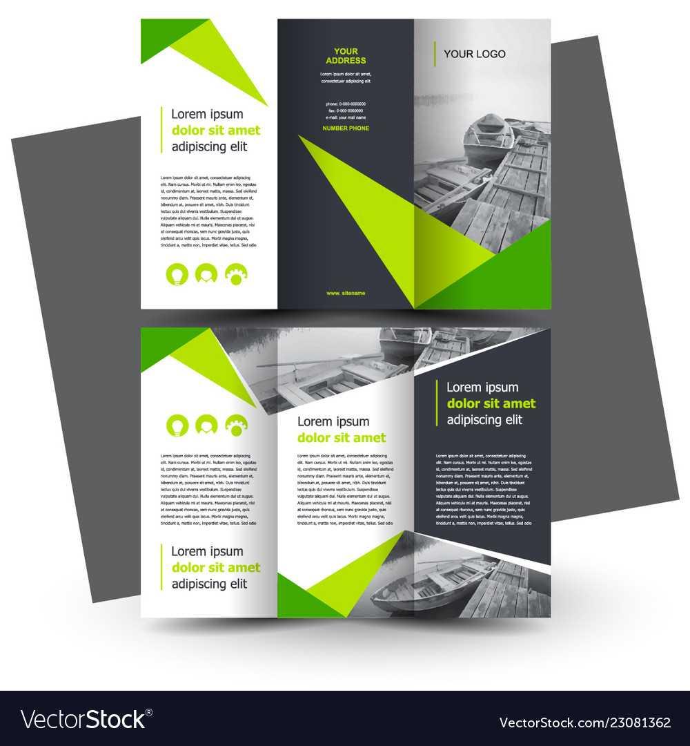 Brochure Design Template Creative Tri Fold Green Within E Brochure Design Templates