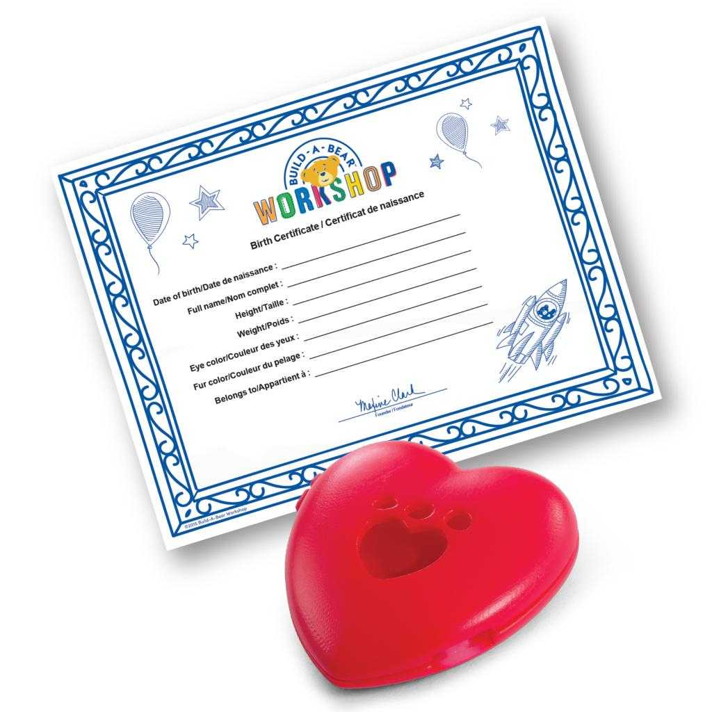 Build A Bear Build A Bear Workshop® Furry  - Spin Master Pertaining To Build A Bear Birth Certificate Template