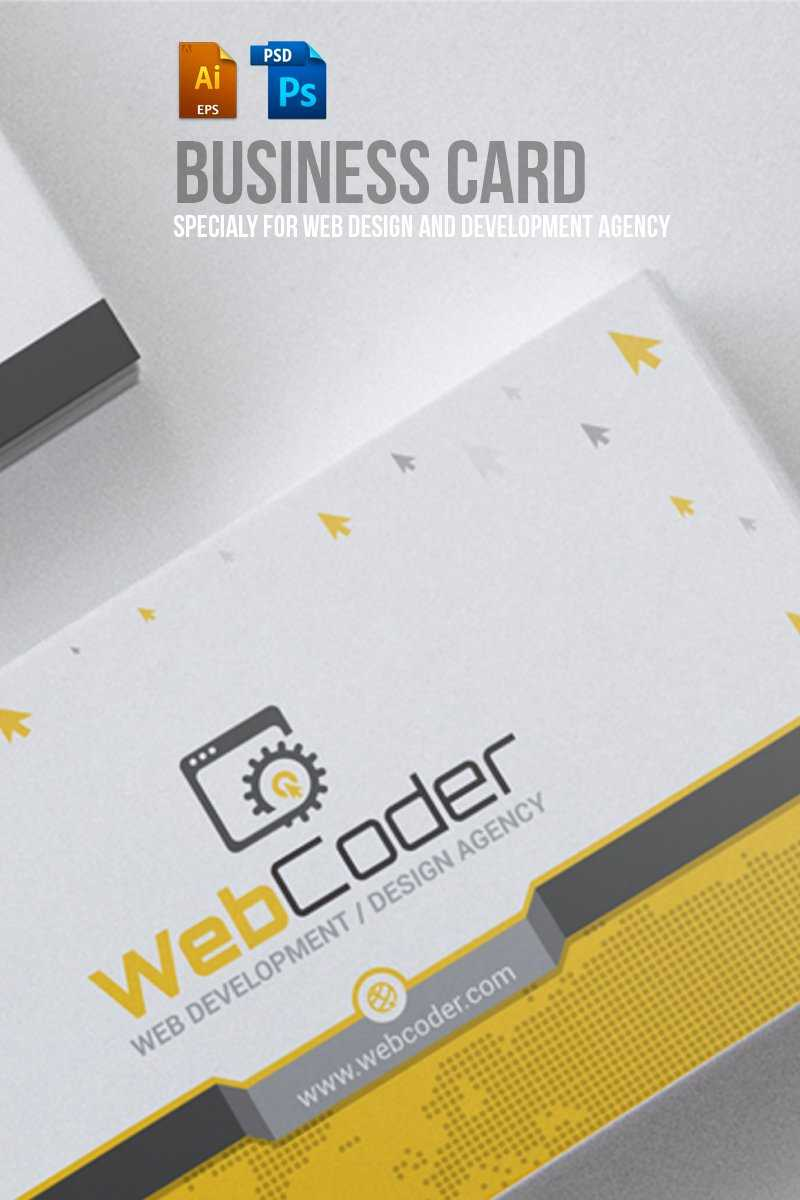 Business Card Design For Web Design And Developer Psd Template Regarding Web Design Business Cards Templates