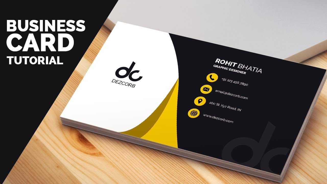 Business Card Design In Photoshop Cs6 Tutorial | Learn Photoshop Front Regarding Business Card Template Photoshop Cs6