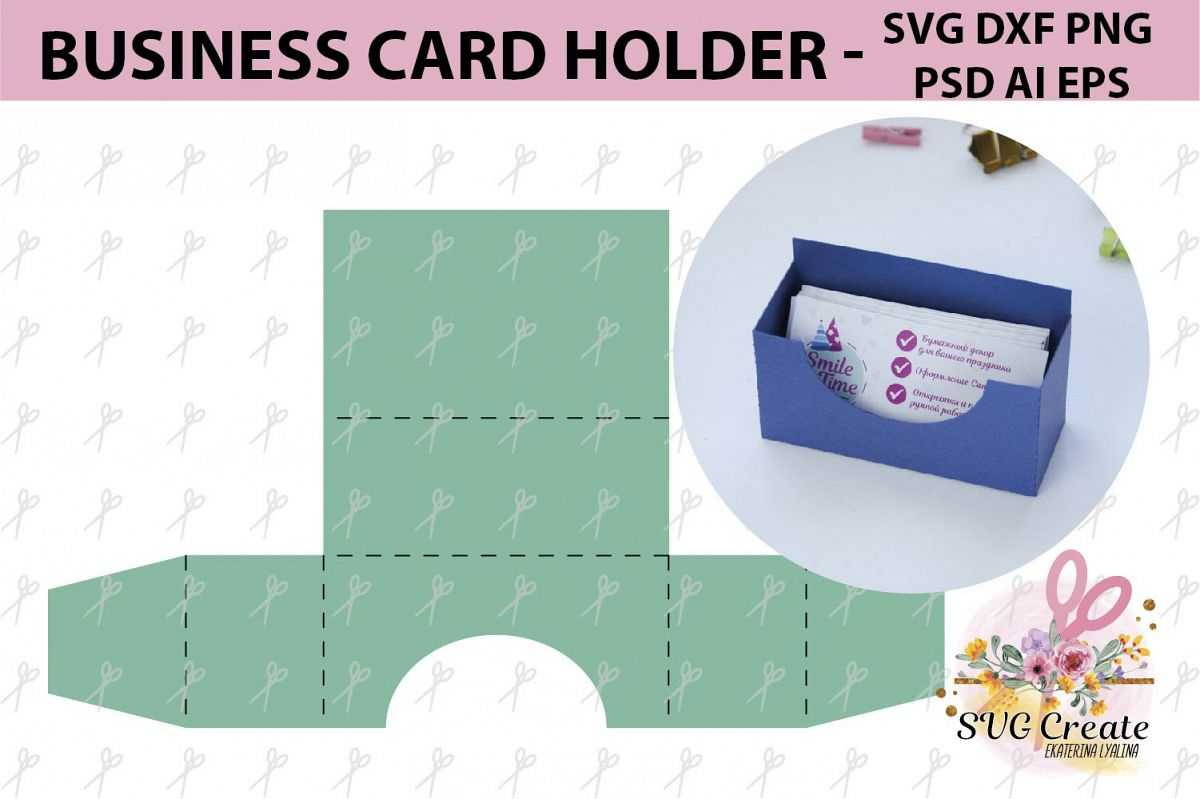 Business Card Holder Template Stand Paper Organiser Box With Card Stand Template