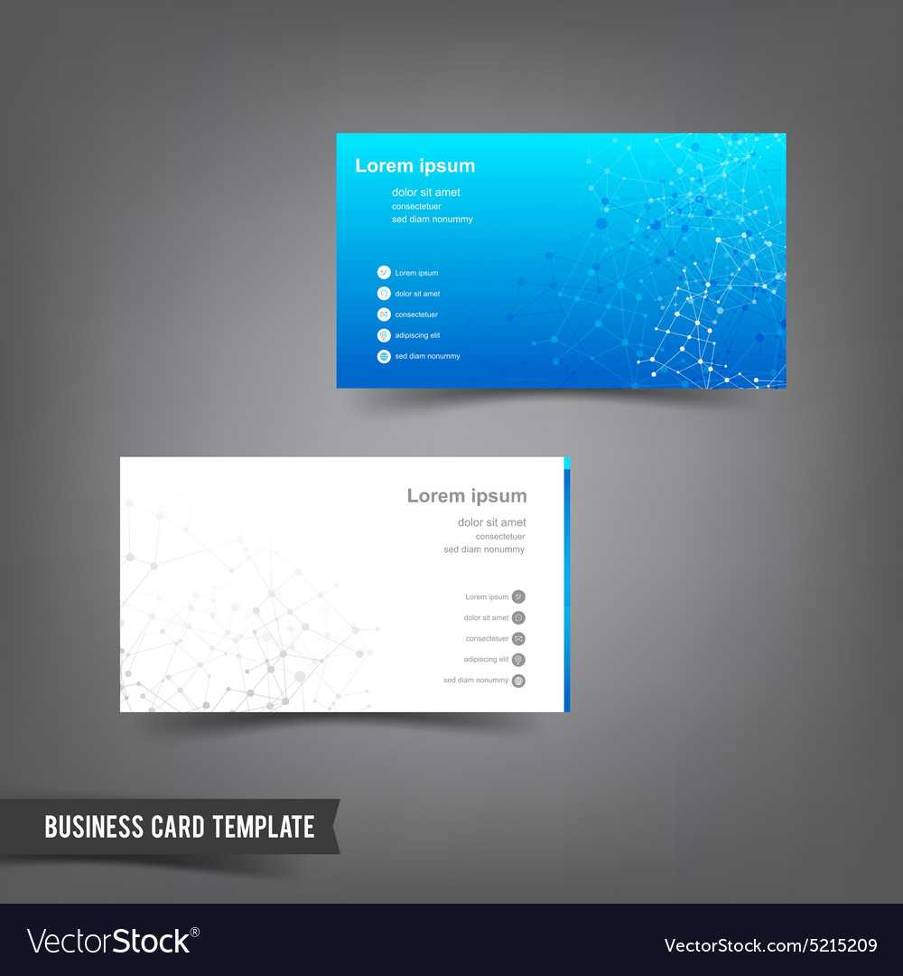 Business Card Template Set 025 Connection Network Intended For Networking Card Template