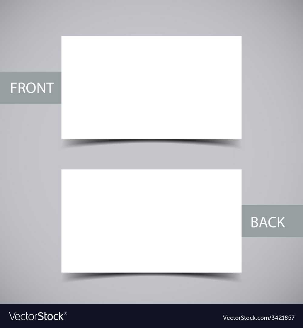 Business Card Template Throughout Plain Business Card Template