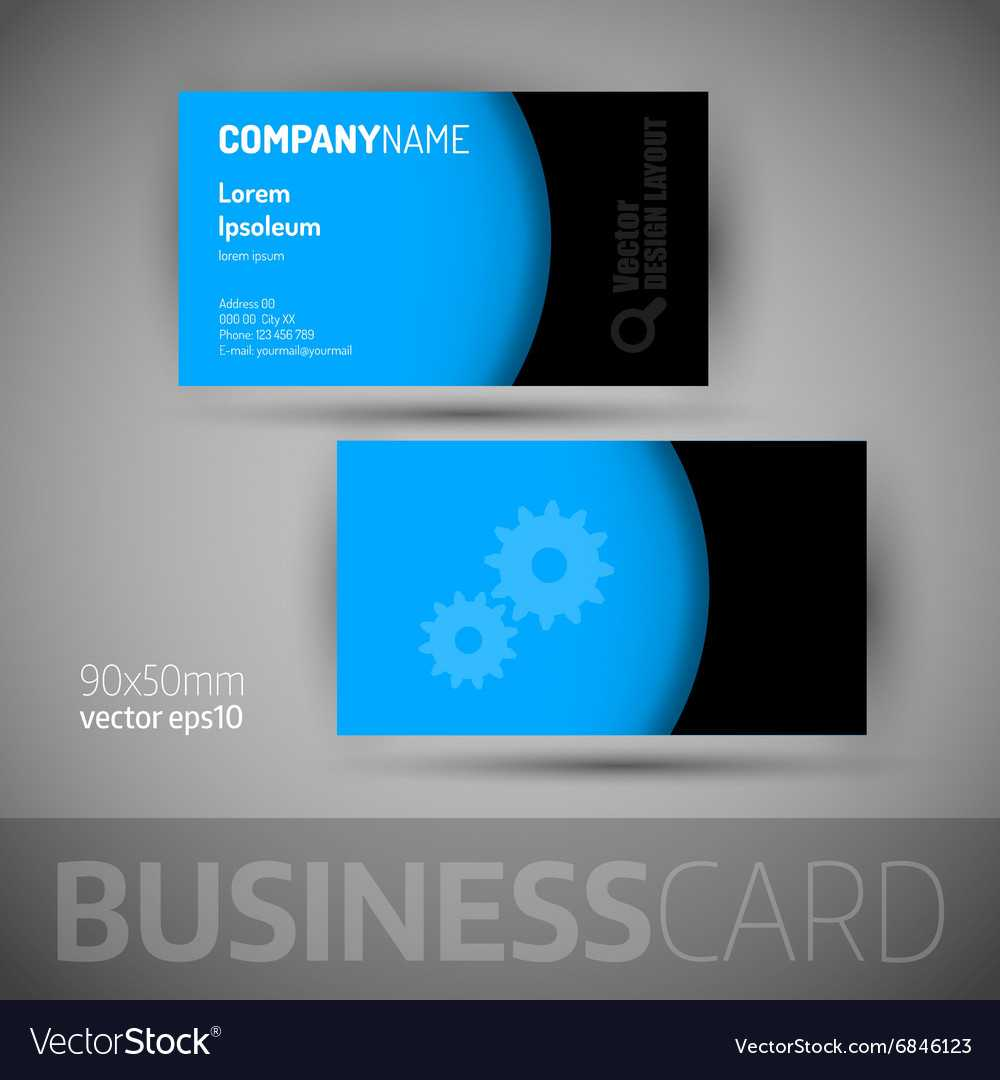 Business Card Template With Sample Texts Pertaining To Template For Calling Card