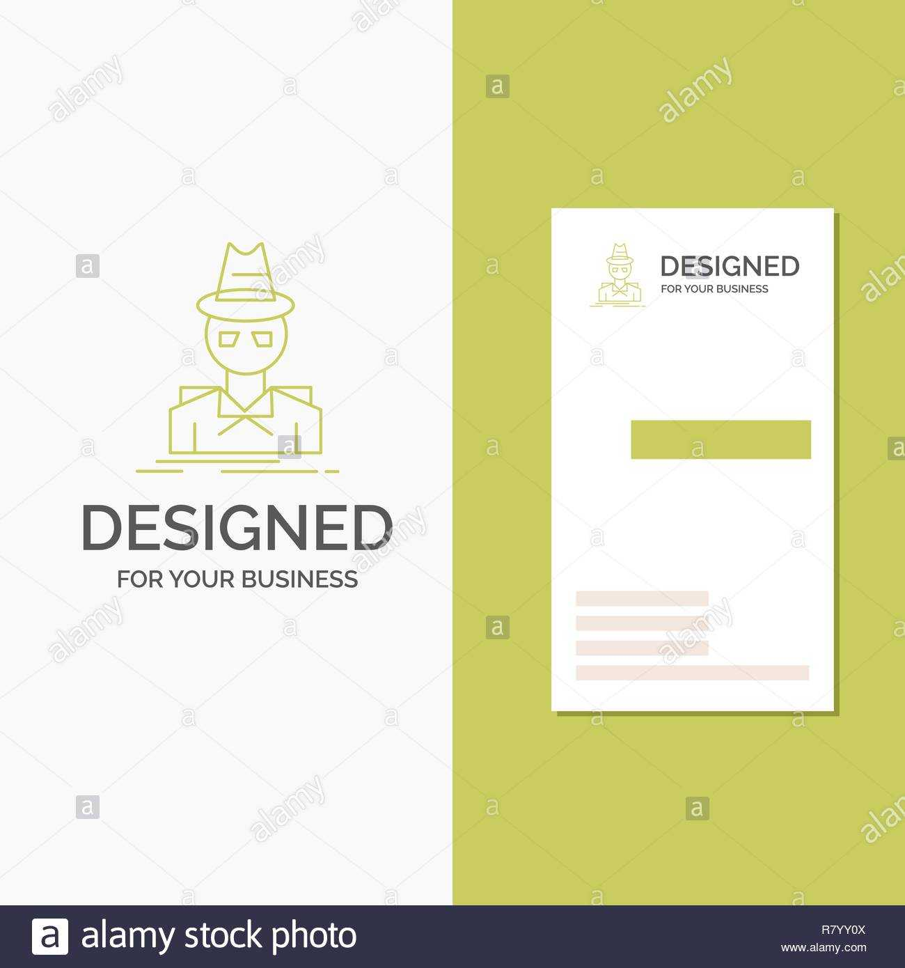 Business Logo For Detective, Hacker, Incognito, Spy, Thief Inside Spy Id Card Template