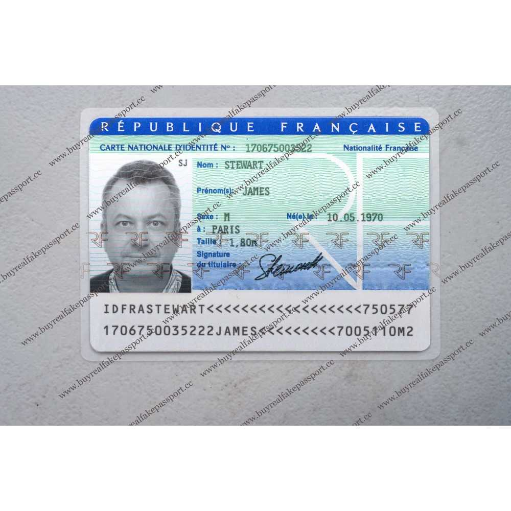 Buy French Original Id Card Online, Fake National Id Card Of With Regard To French Id Card Template