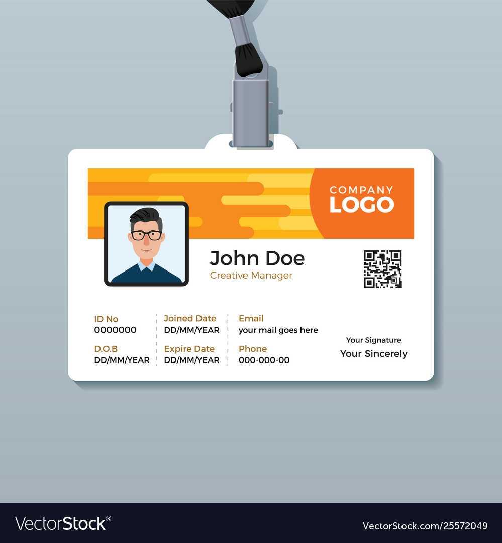 C260Bf1 Employee Id Template   Wiring Library Regarding Employee Card Template Word