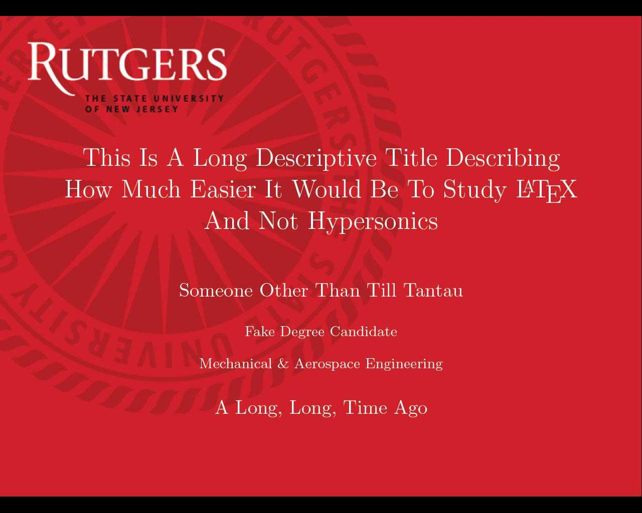 Can I Specify Title Page Customization In A Template Instead Regarding Rutgers Powerpoint Template