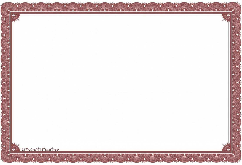 Certificate Border Template – Certificate Templates Intended For Award Certificate Border Template