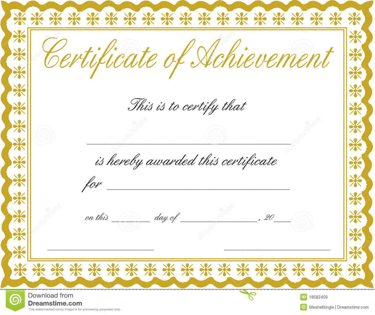 Certificate Of Accomplishment Template In Certificate Of Accomplishment Template Free