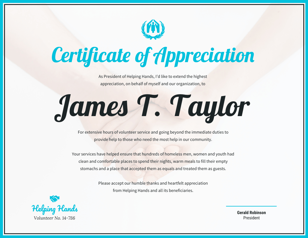 Certificate Of Appreciation Throughout Sample Certificate Of Recognition Template