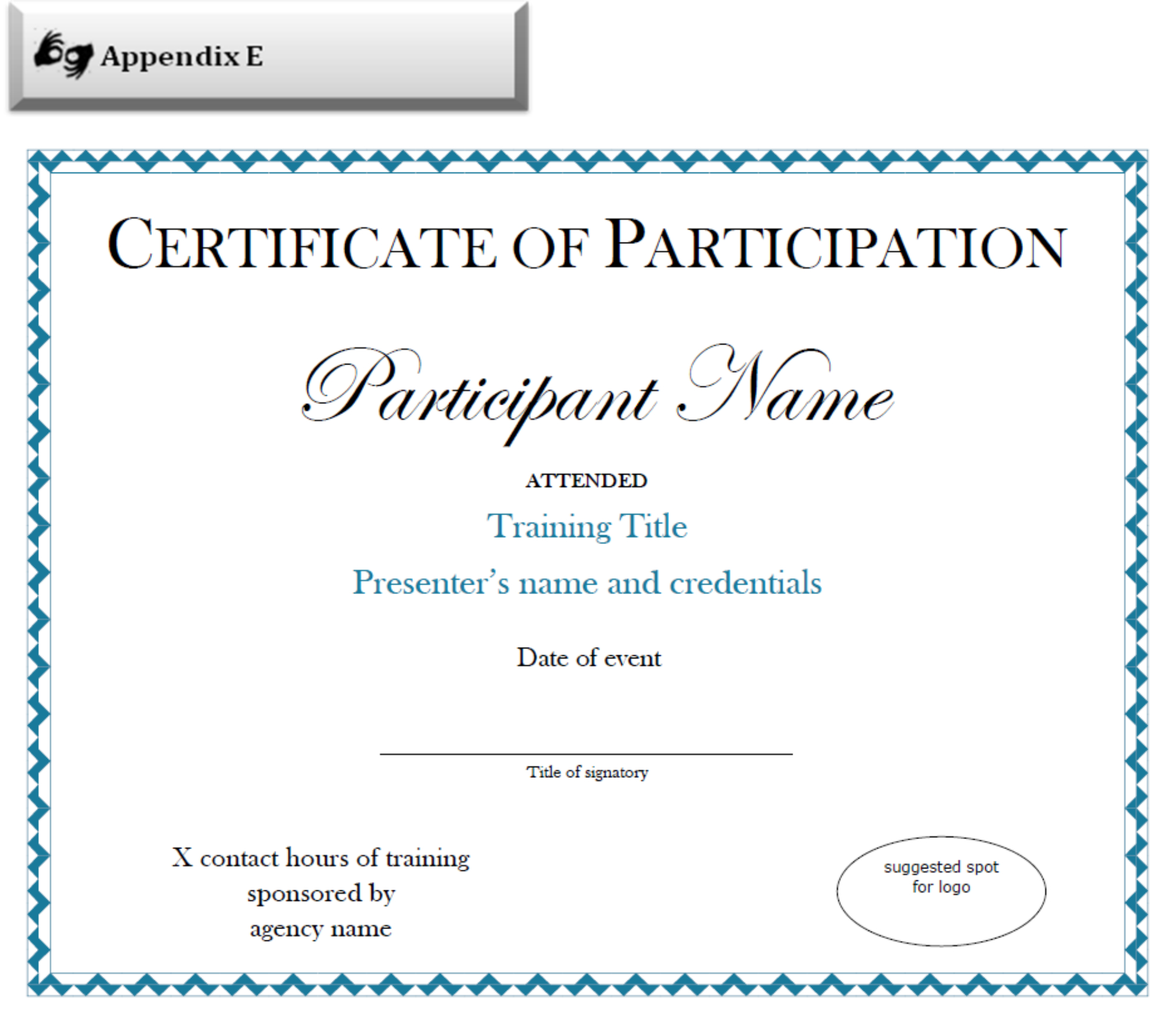 Certificate Of Participation Sample Free Download Within Sample Certificate Of Participation Template