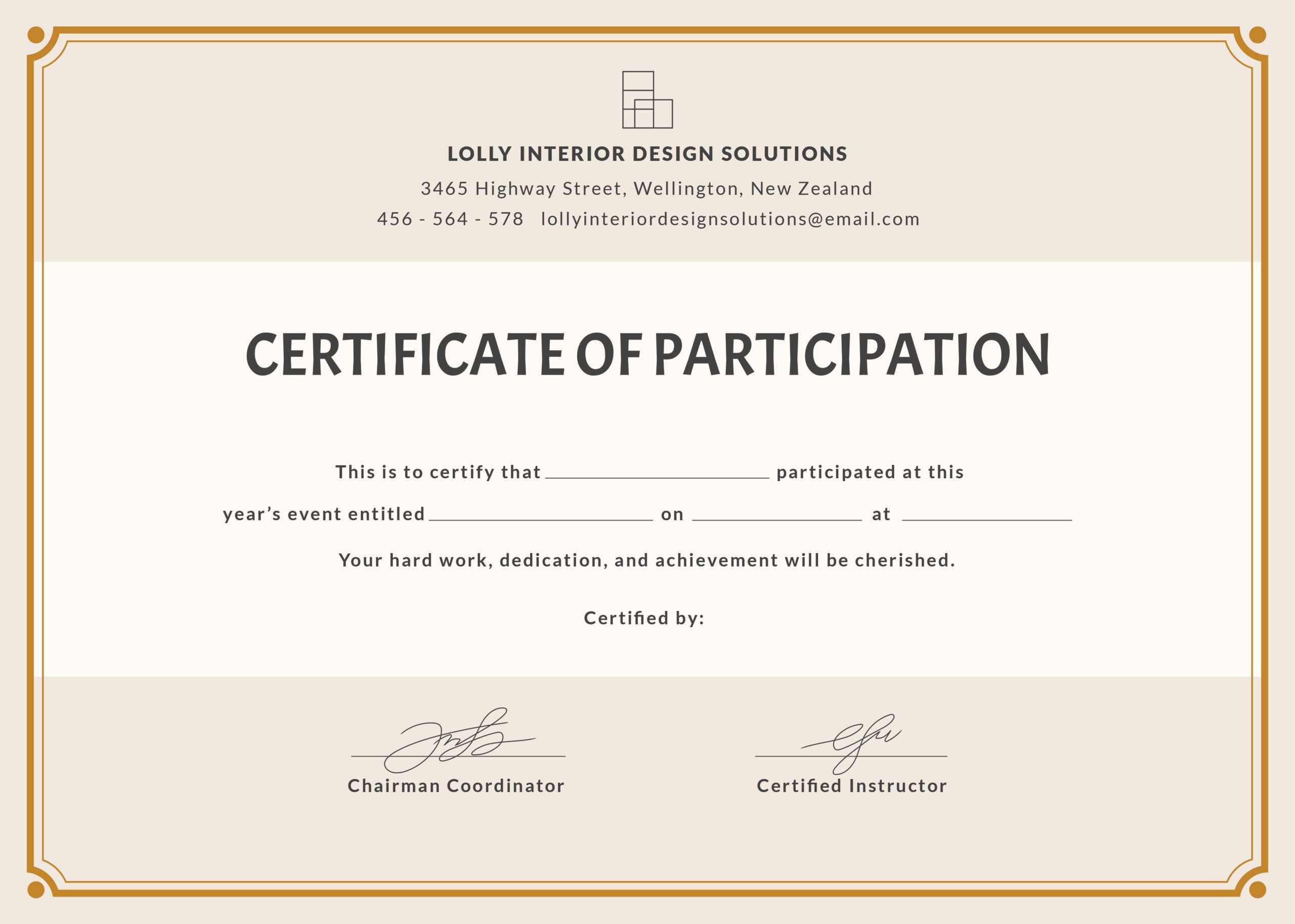 Certificate Of Participation Wording - Karan.ald2014 Intended For Certificate Of Participation Template Pdf