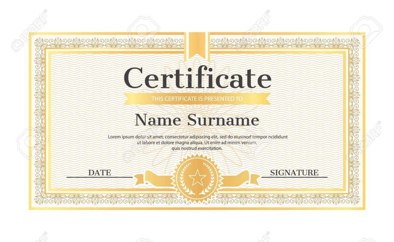 Certificate Template Editable Name And Surname, Date And Signature,.. With Star Naming Certificate Template