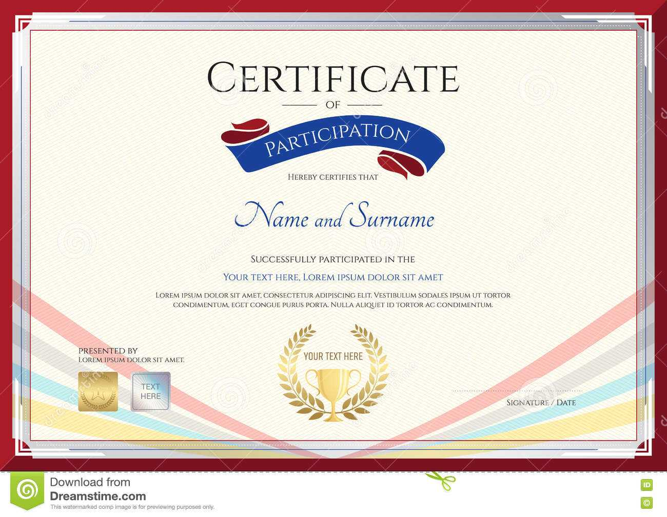 Certificate Template For Achievement, Appreciation Or Throughout International Conference Certificate Templates