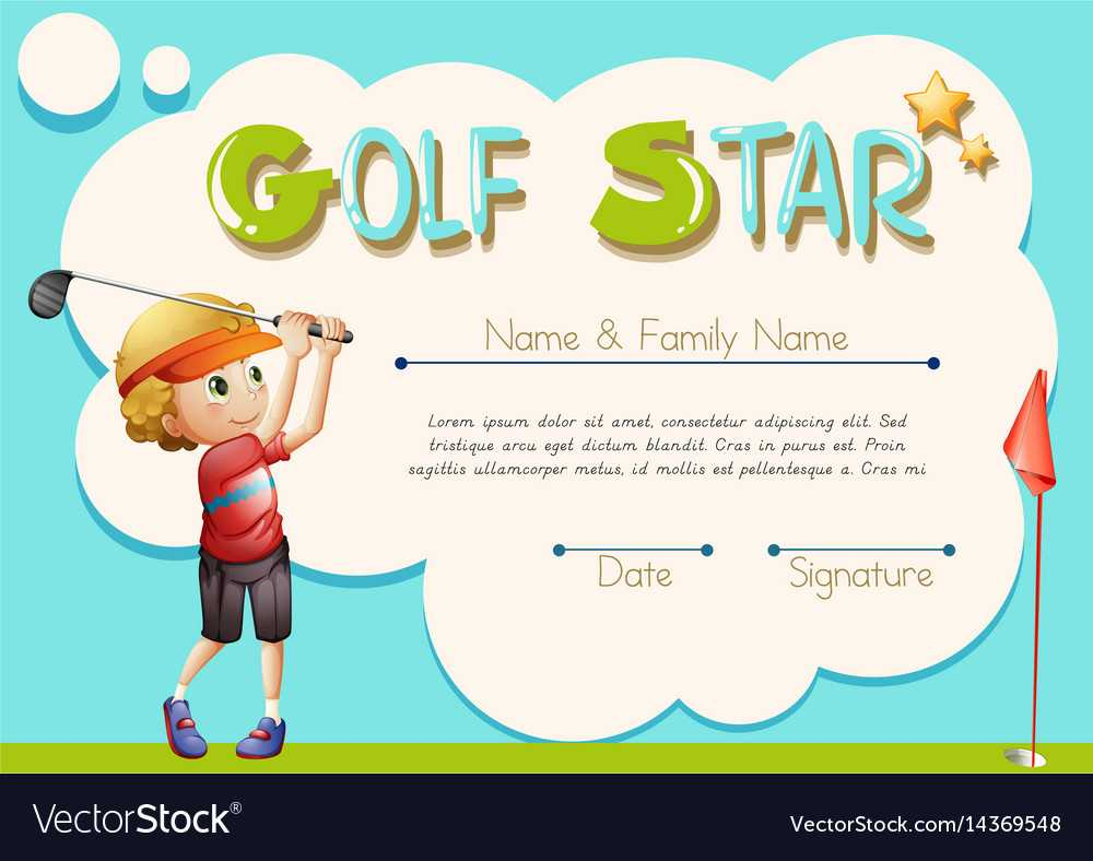 Certificate Template For Golf Star With Regard To Golf Certificate Template Free