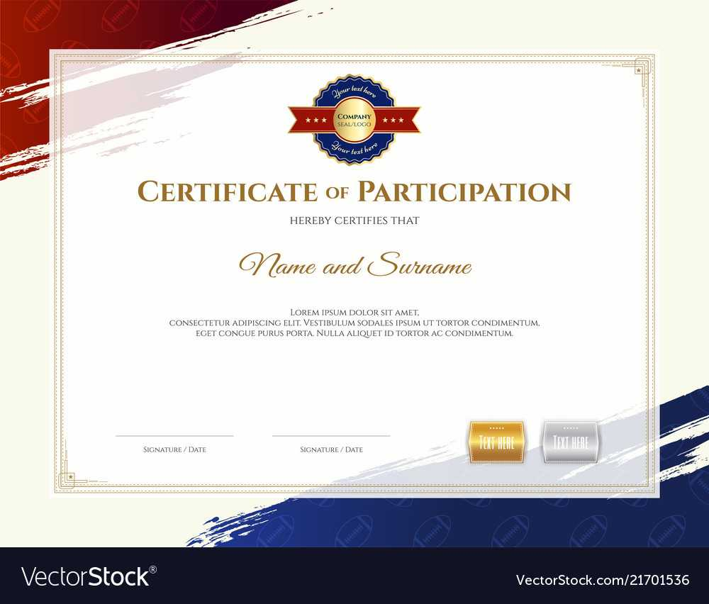 Certificate Template In Rugby Sport Theme With Within Rugby League Certificate Templates