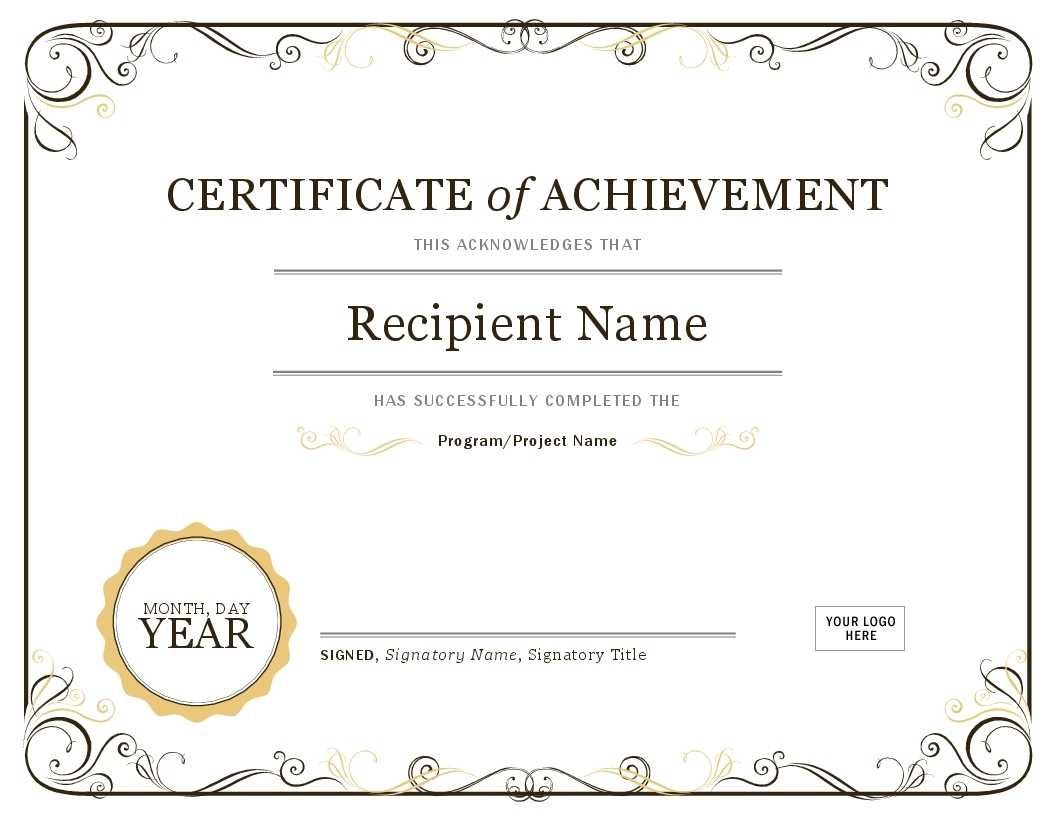Certificate Template In Word | Safebest.xyz With Regard To Certificate Of Achievement Template Word