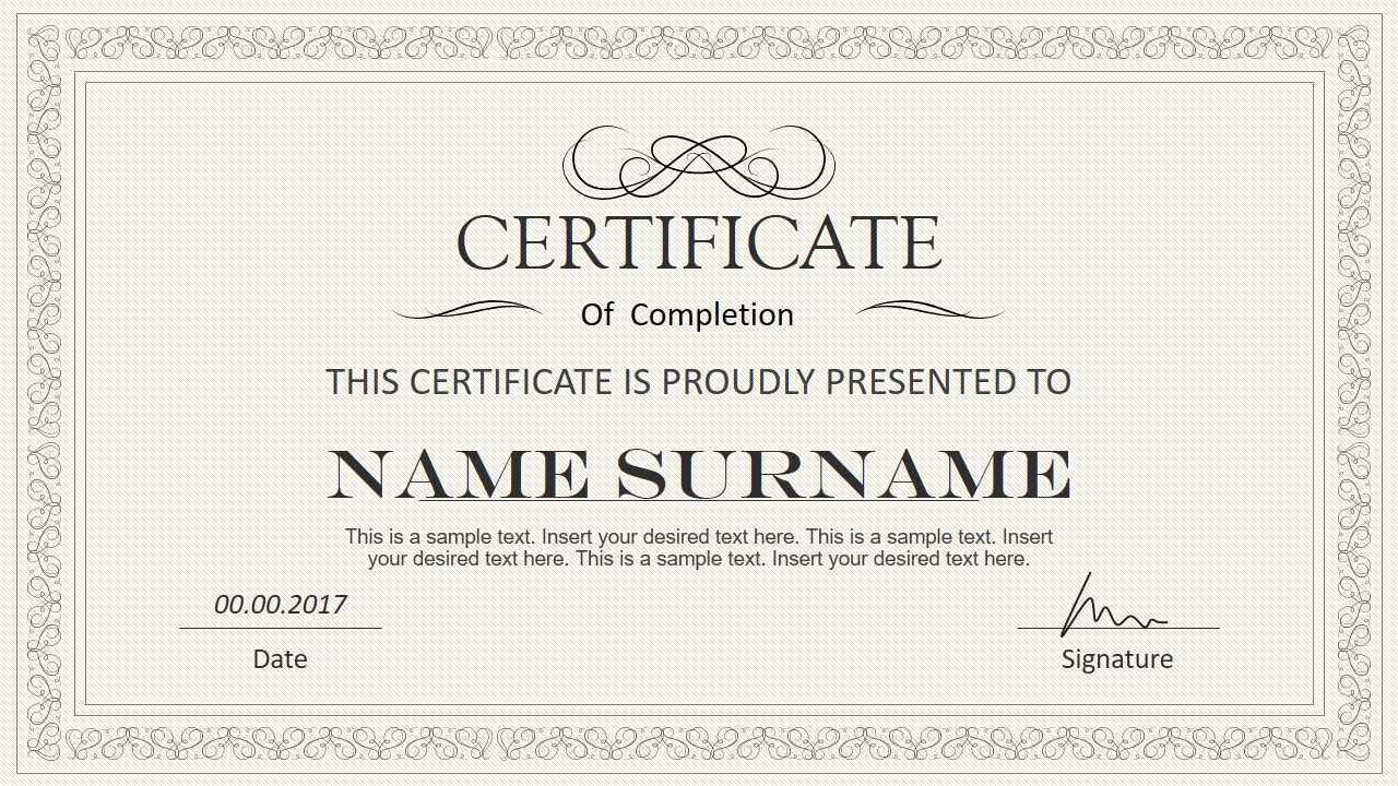 Certificate Template Powerpoint | Safebest.xyz In Powerpoint Award Certificate Template
