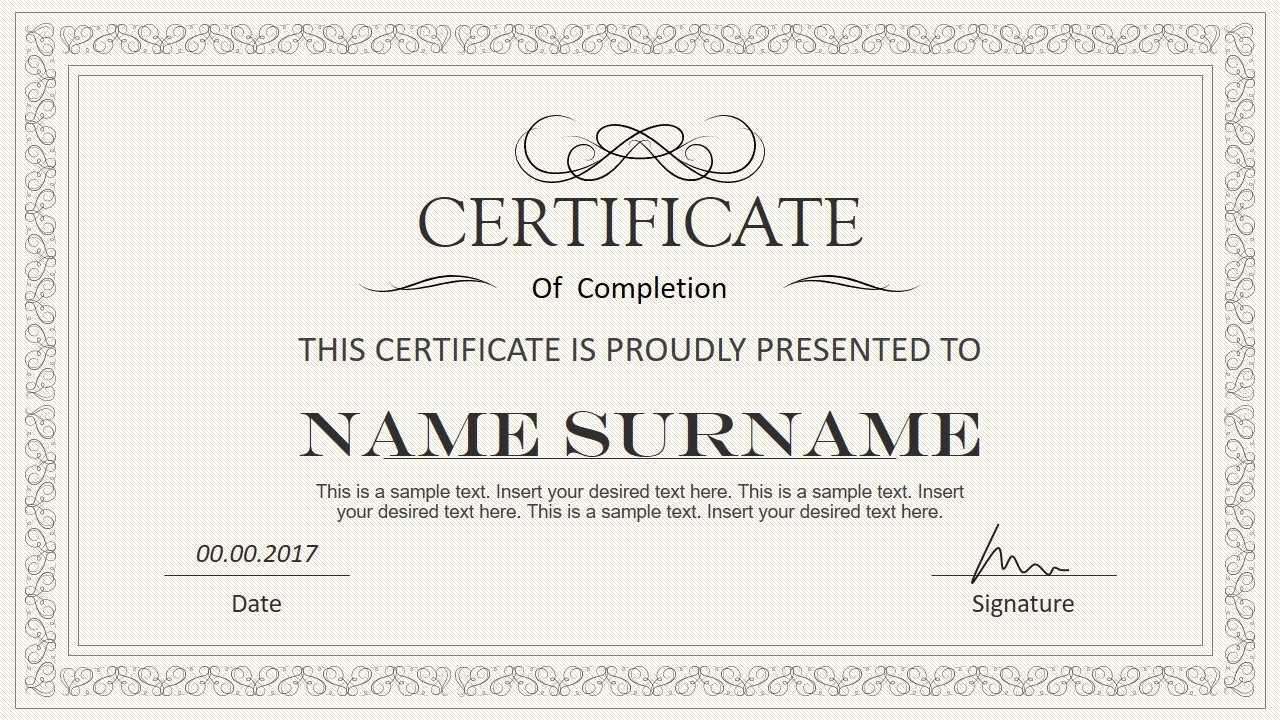Certificate Template Powerpoint | Safebest.xyz Throughout Award Certificate Template Powerpoint