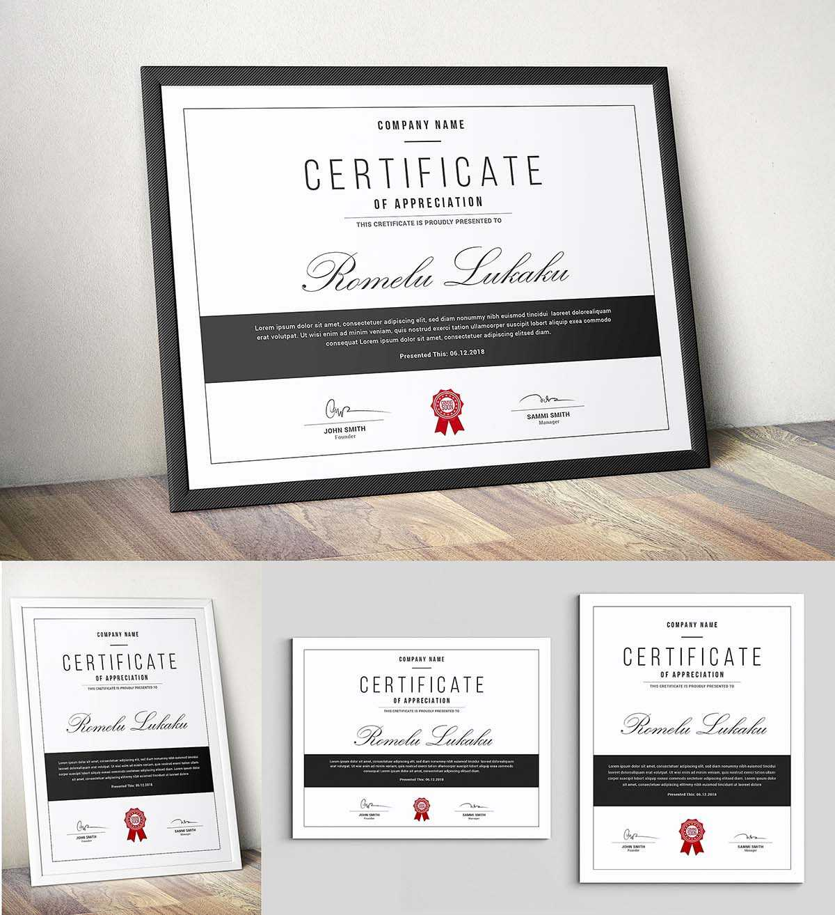 Certificate Template Psd | Free Download Pertaining To Mock Certificate Template