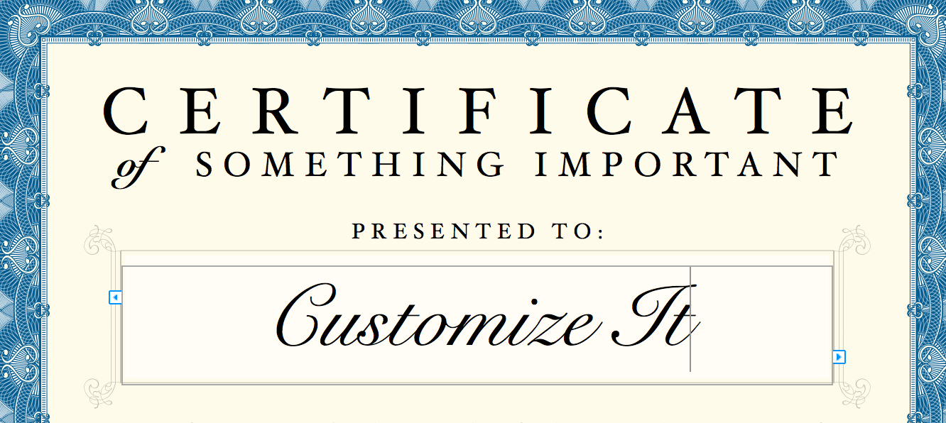 Certificate Template With Certificate Template For Pages