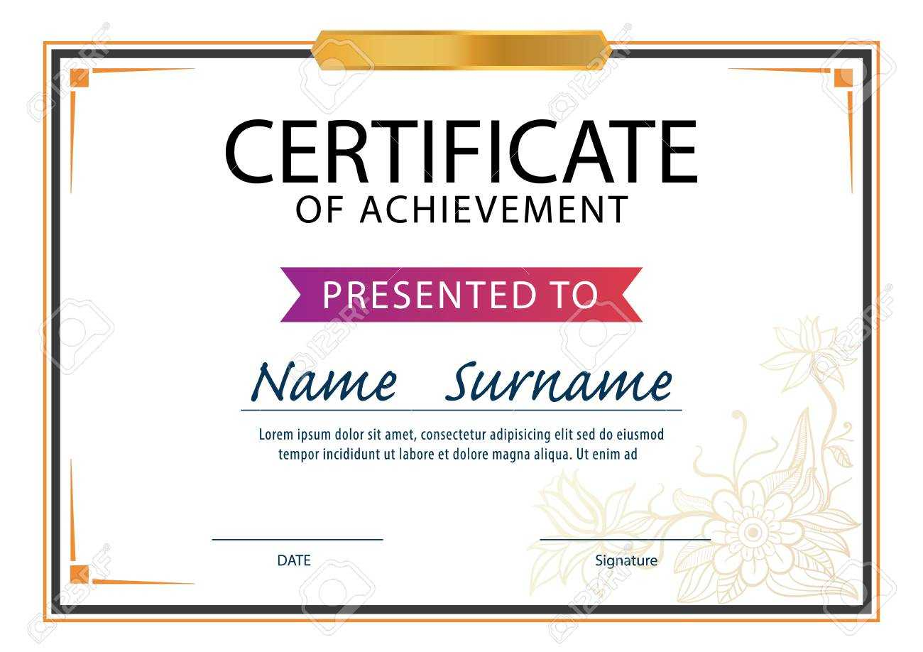 Certificate Template,diploma Layout,a4 Size ,vector Within Certificate Template Size